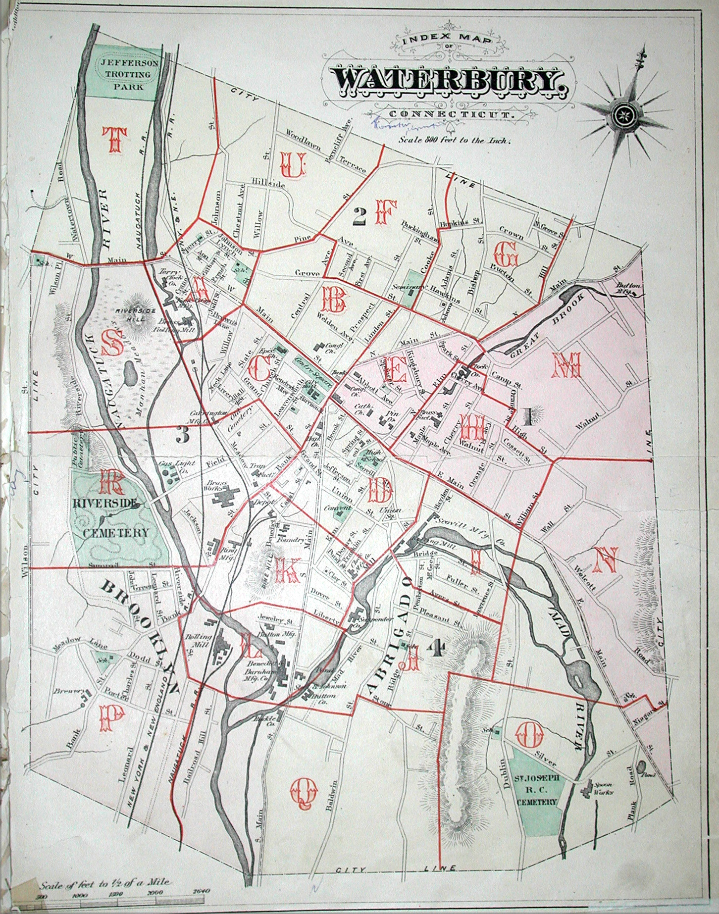 WATERBURY MAPS