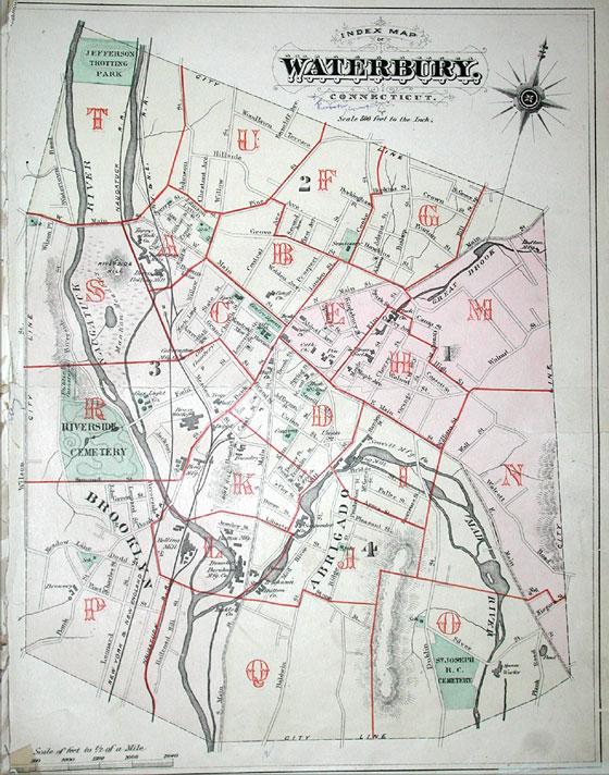 WATERBURY MAPS
